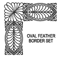 Bali Oval Feather Border Set
