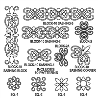 Block Design-10 Sashing Package