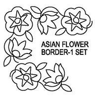Asian Flower Border-1 Set