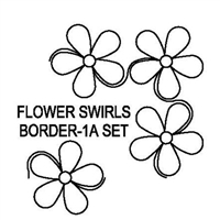 Flower Swirls Border-1 & 1A Set
