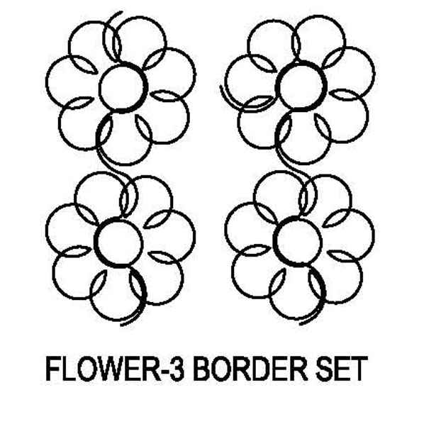 Flower-3 Border Set