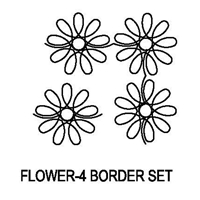 Flower-4 Border Set