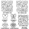 Butterfly Flower Swirls Package