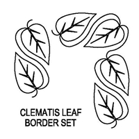 Clematis Leaf Border Set