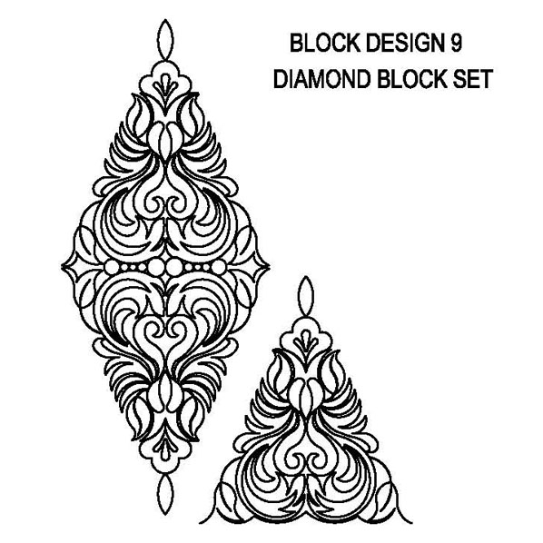 Block Design-9 Diamond Set