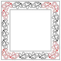 Folky Oak Leaf Border-1 Set