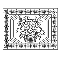 Basket of Flowers Placemat