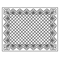 Feathered Crosshatch Placemat