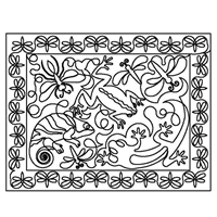 Lizards and Frogs Placemat