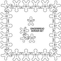 Gingerbread Boys Border Set