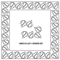 Hibiscus Leaf-1 Border Set