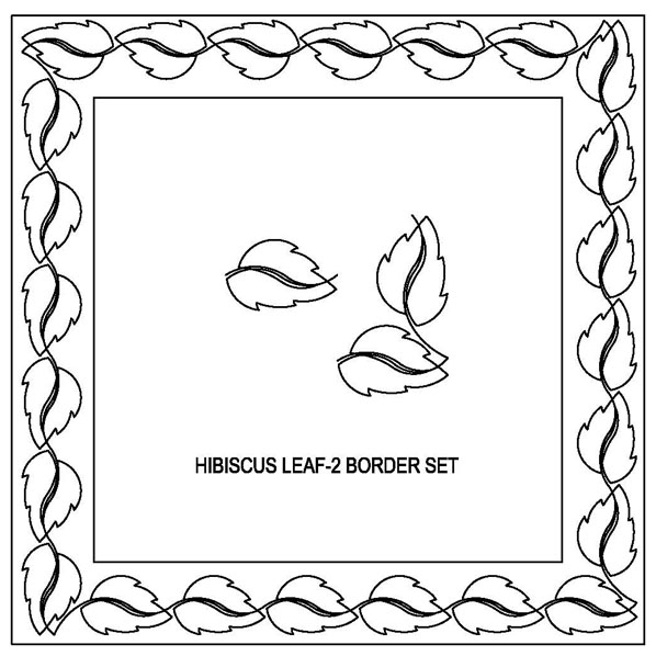 Hibiscus Leaf-2 Border Set