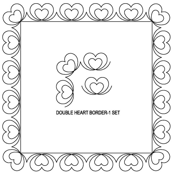Double Heart Border-1 Set