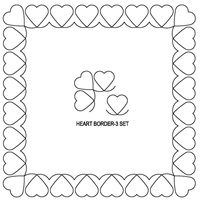 Heart-3 Border Set