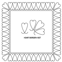 Heart-4 Border Set