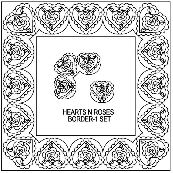 Hearts N Roses Border-1 Set