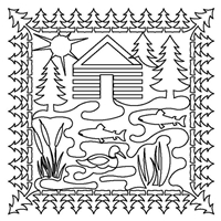 Cabin by the Lake Pillow