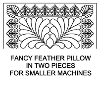 Fancy Feather-2 Pillow Half