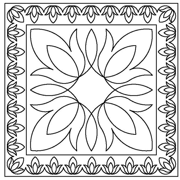 Folk Flower Pillow