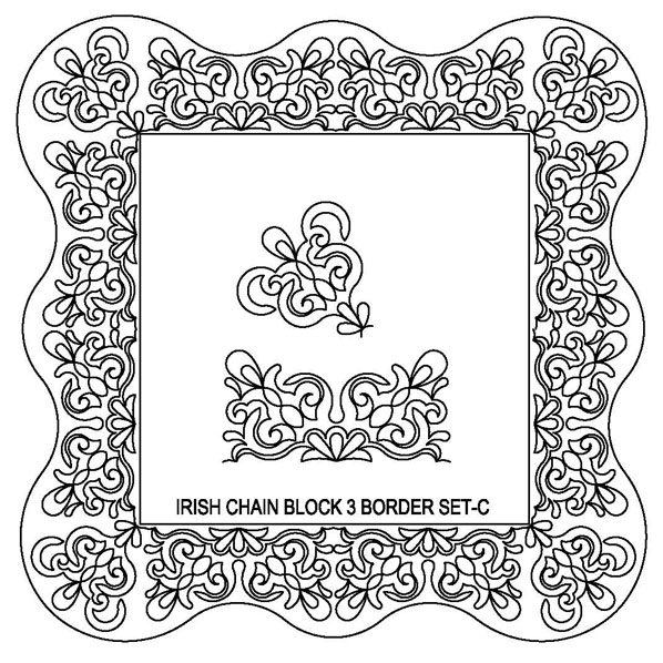 Irish Chain-3 Border Set-C