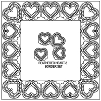Feathered Heart-5 Border Set