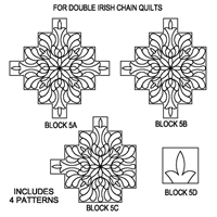 Irish Chain Feathered Rose Package