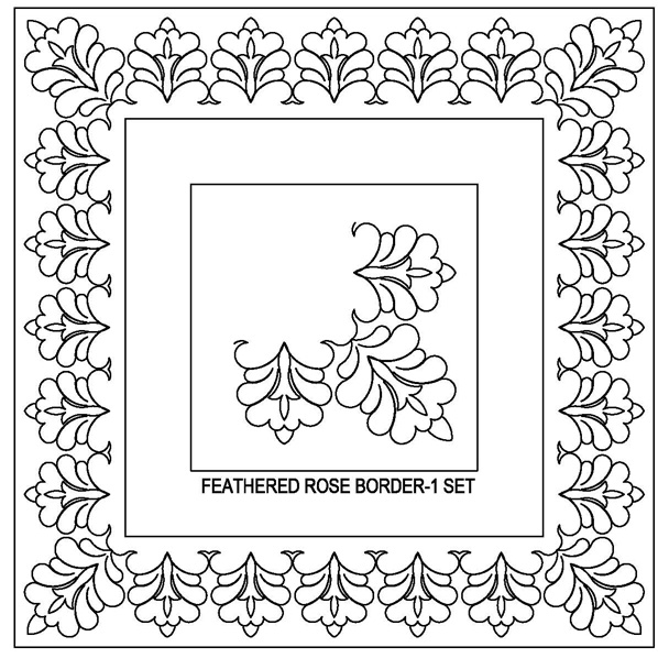 Feathered Rose-1 Border Set