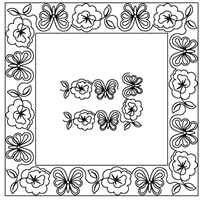 Pansy & Butterfly-D Border Set
