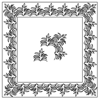 Palm Leaf-1 Border Set