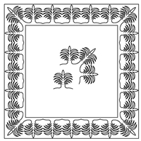 Palm Leaf-2 Border Set