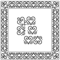 Heart Swirls-5 Border Set