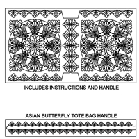 Asian Butterfly Tote Bag