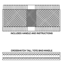 Crosshatch Tall Tote Bag
