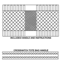 Crosshatch Tote Bag