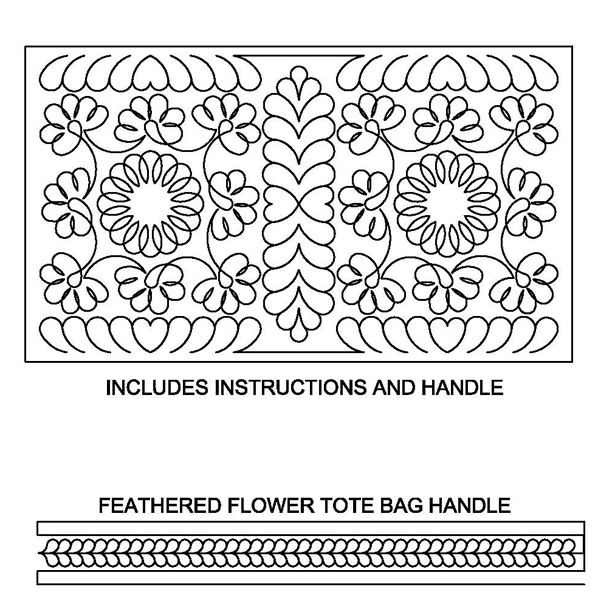Feathered Flower Tote Bag