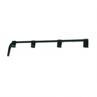 Black Straight Mud Flap Hanger - No Coil