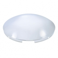 "4 Even Notched Dome Stainless Front Hub Cap - 7/16"" Lip4 Even Notched Dome Stainless Front Hub Cap - 7/16"" Lip"