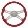 "18"" Classic Viper Red Steering Wheel"