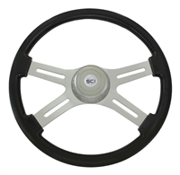 "18"" Classic Black Steering Wheel"