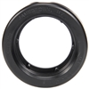 Open Back, Black PVC, Grommet for 30 Series and 2 in. Lights, Round