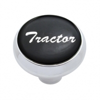"""Tractor"" Deluxe Air Valve Knob - Black Glossy Sticker"
