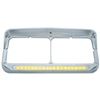 19 LED Dual Headlight Bezel w/ Visor - Amber LED/Clear Lens