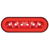 "22 LED 6"" Oval Stop, Turn & Tail ""GLO"" Light - Red LED/Red Lens"