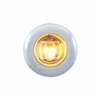 2 LED Mini Clearance/Marker Light w/ Bezel - Amber LED/Clear Lens