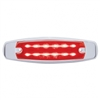 12 LED Rectangular Clearance/Marker Light - Red LED/Red Lens