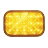 15 LED Rectangular Turn Signal - Amber LED/Amber Lens