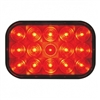 15 LED Rectangular Stop, Turn & Tail Light - Red LED/Red Lens