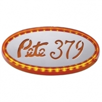 32 LED Large Peterbilt Emblem Light - Amber LED/Amber Lens