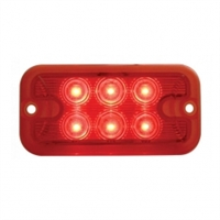 6 LED Dual Function Light - Red LED/Red Lens