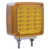39 LED Reflector Double Face Turn Signal Light - Amber/Red Lens - Passenger